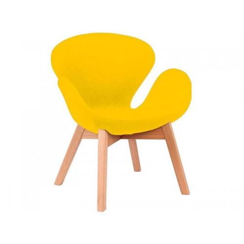 Купить Кресло Сван желтое, мягкое
