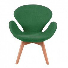 Кресло Сван зеленое, мягкое