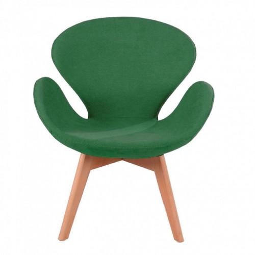 Купить Кресло Сван зеленое, мягкое