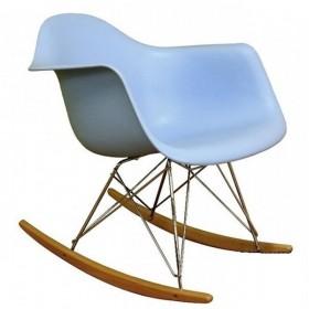 Кресло-качалка Тауэр R голубое, бук