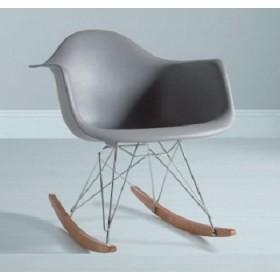 Кресло-качалка Тауэр R серое, бук