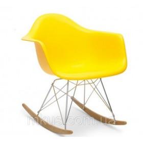 Кресло-качалка Тауэр R желтое, бук