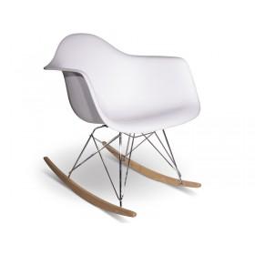 Кресло-качалка Тауэр R белое, бук