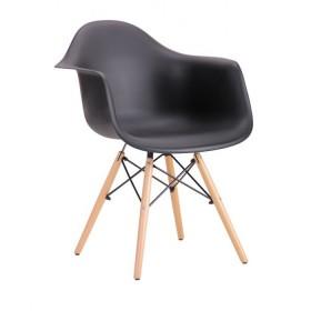 Кресло Тауэр Вуд черное, бук
