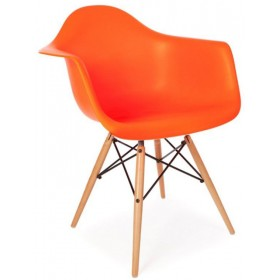 Кресло Тауэр Вуд оранжевое, бук