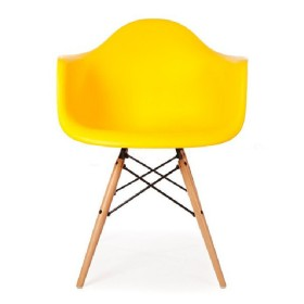 Кресло Тауэр Вуд желтое, бук