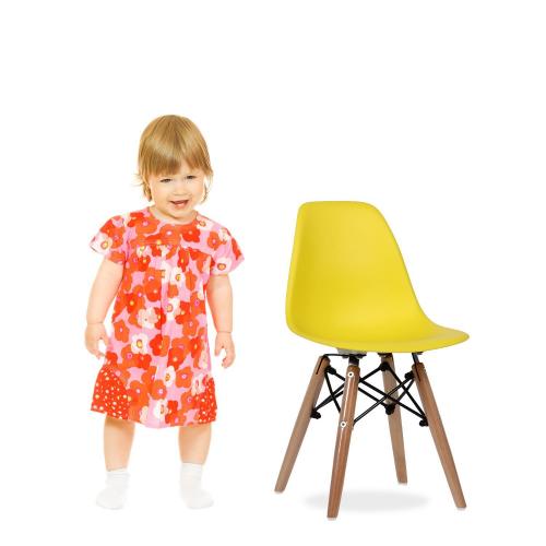 Купить Стул детский Тауэр Вaby, пластиковый желтый