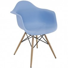 Кресло Тауэр Вуд голубое, бук