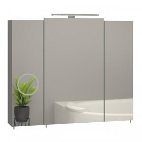 Зеркальный шкафчик в ванную Эверест ZOOM 800 с линзой